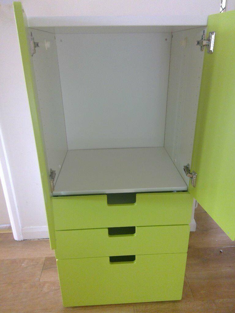 Ikea Childrens Storage Unit 3 Drawer And Wardrobe Unit And Ikea