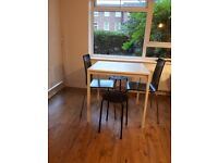 Dining set (table, 2 chairs, 1 stool)