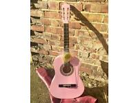 Acoustic guitar w/ case + new strings