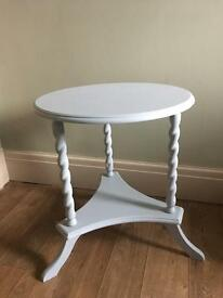 Hand painted grey occasional table
