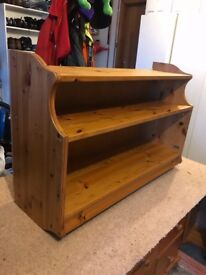 Solid pine shelving, nice condition