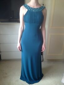 Prom dress size 6 uk Teal