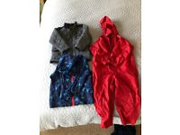 Age 4-5 years coats separate (£4-£6 each) or as a bundle