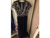Long blue dress