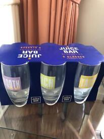 Brand new juice glasses