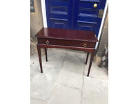 STAG Hall Table - free local delivery Rectangular top over single drawer , in good condition .