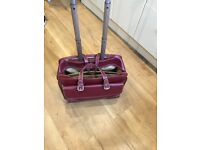 Lovely Red Laptop case on wheels. Bramble and Brown.Lovely condition