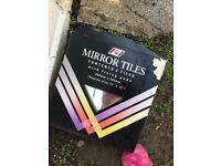 2 packs of 6 b&q 300mm x 300mm mirror tiles