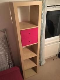 Ikea Kallax 5 cube unit with removable drawer inserts