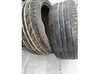 Part worn tyres job lots to clear 245/45R18