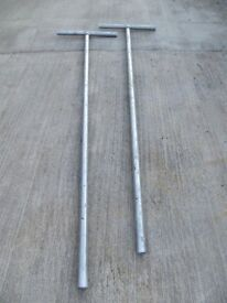 Galvanised metal clothes line poles or pipes for sale