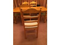 6 Chair wooden dining table