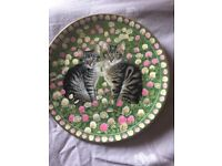 'Meet my kittens' plates, by Lesley Anne Ivory, set of 6 collectable plates, top condition