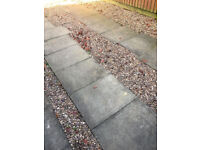 Free concrete paving slabs for collection