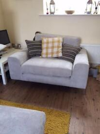 3 Seater Sofa, Snuggle Chair & Large Foot Stool