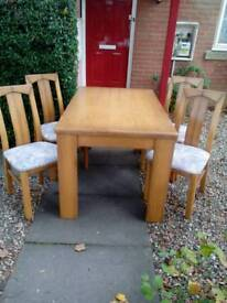 Table 4 chairs 20 pounds