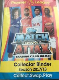 Match Attax binder approx 80-90% full of cards