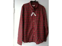 River Island Mens long Sleeve Red Check Shirt Size- L
