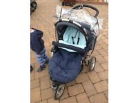 Running/off road pushchair-travel system