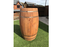 Large Wooden Beer Wine Cask Whiskey Barrel 121 x 58cm