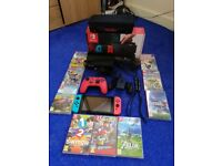 Nintendo Switch with 9 games, Mario Pro Controller & Carry Case