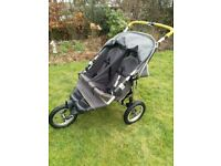 Out and about instep nipper sport double buggy.