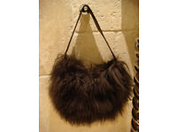 Brown Mongolian handbag NEW