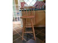 Set of 4 pine stools
