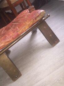 Antique camel chair