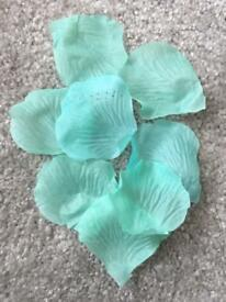 Tiffany Blue/Aqua faux rose petals