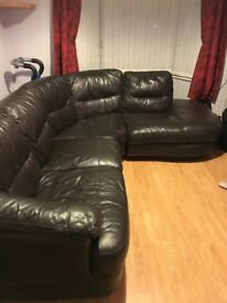 Lovely brown Italian leather sofa