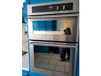 Gas double oven built in