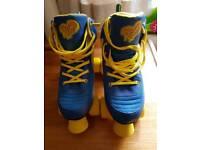 Rio roller pure quad skates size 5 Blue/Yellow