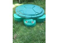 Little Tikes green Turtle sand pit.
