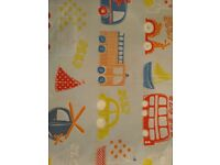 Boys single duvet covers with matching pillow cases and tab top curtains