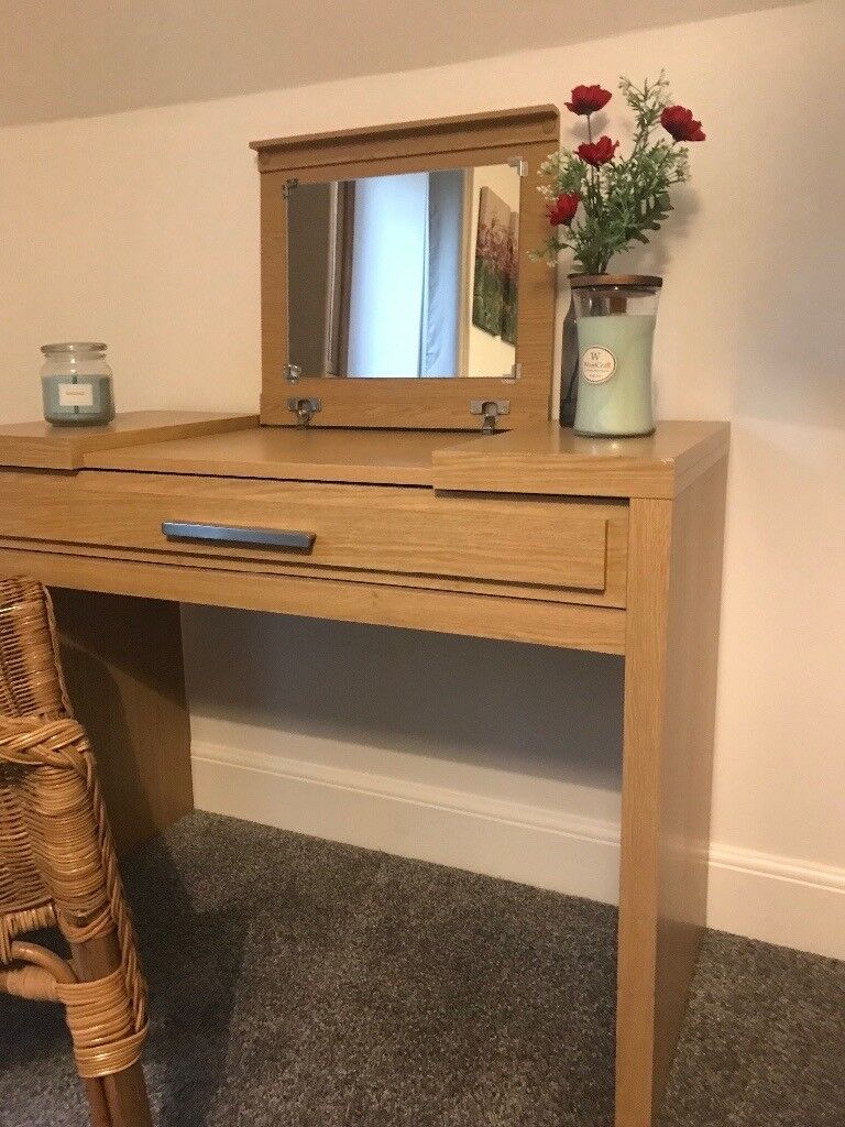 Dressing Table With Mirror Solid Wood