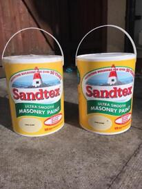 SANDTEX ultra smooth masonry paint x 2 in sand dune, yellow, render, outdoor paint