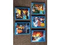 Disney blu ray films x5