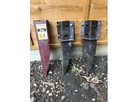 3 fence post spikes repair spur