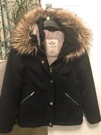 Ladies size S black hollister coat