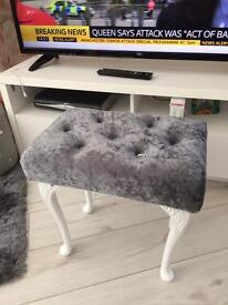 Crushed velvet stool