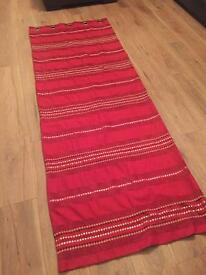 Red curtains (2 sets) £35 pair/£20 single