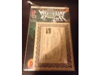 Marvel wolverine comics with certificate