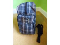 Dakine Ski / Snowboard Boot Bag, Grey / Brown, Excellent Condition