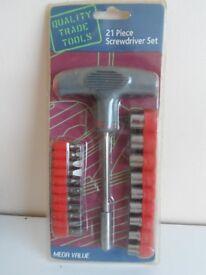 21 piece screwdriver set