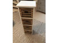 Wood Storage Unit Chest Drawers