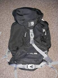 KARRIMOR Wind Tunnel travel rucksack black for trekking/hiking