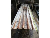 3x Box Profile Metal Roof Sheets. Heavy Gauge. Used.