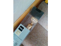 Brass effect metal curtain pole, extendable, Homebase, 1.2 to 2.1m - New