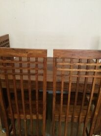 solid dining table mango wood 4 chairs